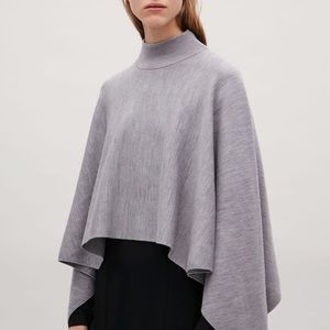 COS wool sweater cape